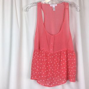 Ambiance Apparel, polka dot, camisole, Size M NWOT